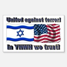United against terror! Rectangle Decal