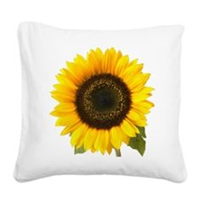Sunflower Square Canvas Pillow