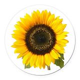 Sunflower Round Car Magnets