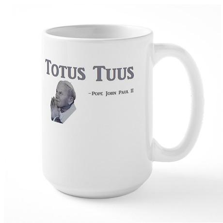 Totus Tuus PJPII Large Mug