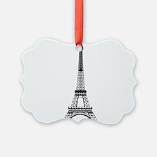 Eiffel Tower Black Ornament