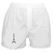 Eiffel Tower Black Boxer Shorts