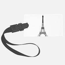 Eiffel Tower Black Luggage Tag