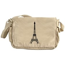 Eiffel Tower Black Messenger Bag