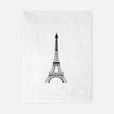 Eiffel Tower Black Twin Duvet