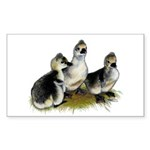 Goslings on Grass Sticker (Rectangle 10 pk)