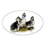 Goslings on Grass Sticker (Oval 50 pk)