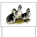 Goslings on Grass Yard Sign