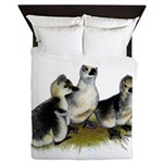 Goslings on Grass Queen Duvet