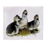 Goslings on Grass Throw Blanket