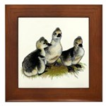 Goslings on Grass Framed Tile