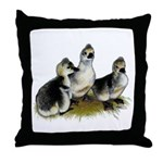 Goslings on Grass Throw Pillow