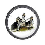 Goslings on Grass Wall Clock