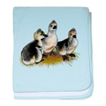 Goslings on Grass baby blanket
