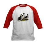 Goslings on Grass Kids Baseball Jersey