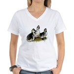 Goslings on Grass Women's V-Neck T-Shirt