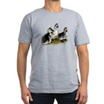 Goslings on Grass Men's Fitted T-Shirt (dark)