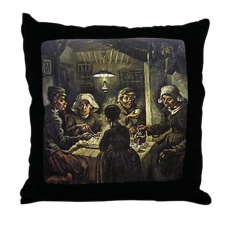 The Potato Eaters Throw Pillow