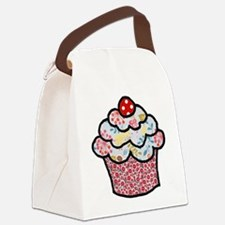 Holiday Sprinkle Cake Canvas Lunch Bag
