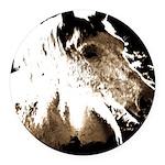 Pony Love.jpg Round Car Magnet