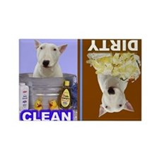 Dishwasher -RecMag -BullTerrier,White Magnets