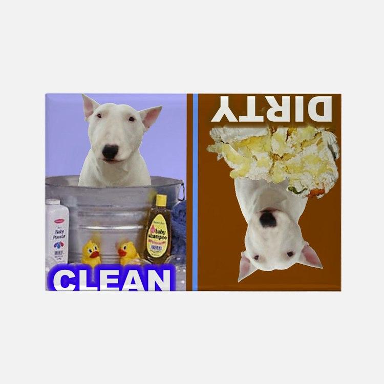 Dishwasher -RecMag -BullTerrier,White Magnets