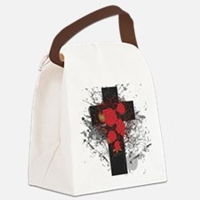 Rose Cross Canvas Lunch Bag