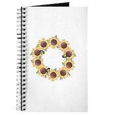 Sunflower Wreath Ring Journal