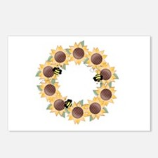 Sunflower Wreath Ring Postcards (Package of 8)