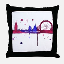 London Melting Throw Pillow