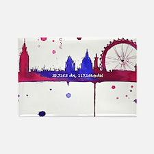 London Melting Rectangle Magnet