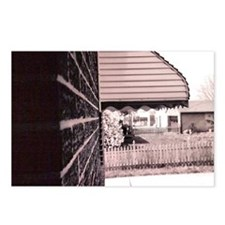 House Side View (B and W) Postcards (Package of 8)