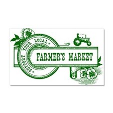 SUPPORT YOUR LOCAL FARMERS MARKET Car Magnet 20 x
