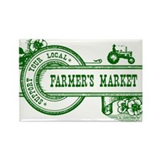 SUPPORT YOUR LOCAL FARMERS MARKET Rectangle Magnet