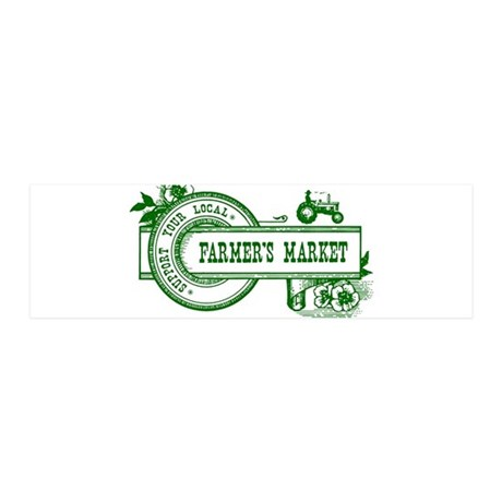 SUPPORT YOUR LOCAL FARMERS MARKET 20x6 Wall Decal