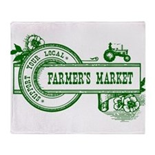 SUPPORT YOUR LOCAL FARMERS MARKET Throw Blanket