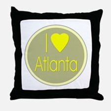 I Love Atlanta Throw Pillow