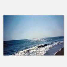 Wave Rolling Onto Beach Postcards (Package of 8)