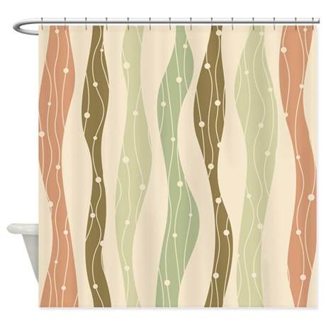 Wavy Pattern Shower Curtain By BestShowerCurtains