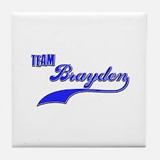 Team Brayden Tile Coaster