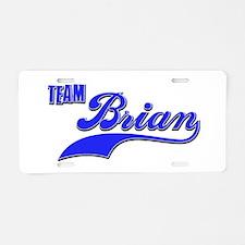 Team Brian Aluminum License Plate