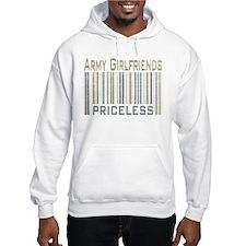 Army Girlfriends Priceless Barcode Hoodie
