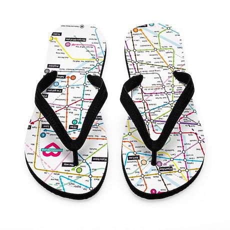Love Map Flip Flops
