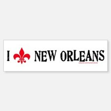 Love New Orleans! Bumper Car Car Sticker
