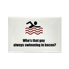 Swimming In Bacon Rectangle Magnet