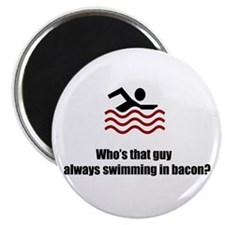 "Swimming In Bacon 2.25"" Magnet (10 pack)"