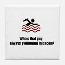 Swimming In Bacon Tile Coaster