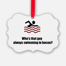 Swimming In Bacon Ornament