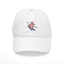 skiing pig Baseball Cap