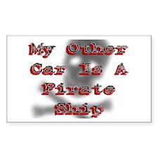 Other Car Pirate Ship Caribbean Sticker (Rectangul
